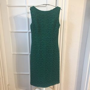 CH Carolina Herrera green lace sheath dress 2